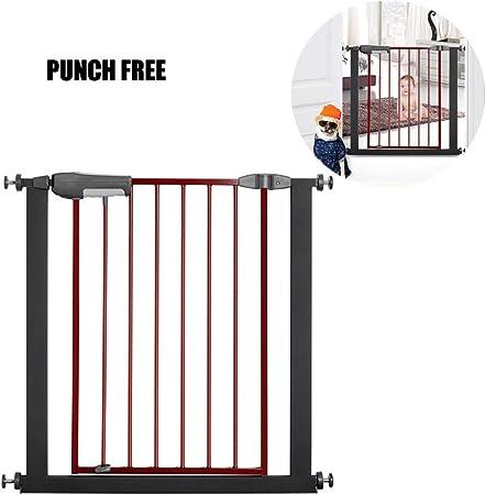 HBIAO Barreras para Puertas y escaleras, Puerta de bebé Extra Ancha o Estrecha Puerta de Seguridad para niños montada a presión Puerta de Escalera,85 * 96: Amazon.es: Hogar