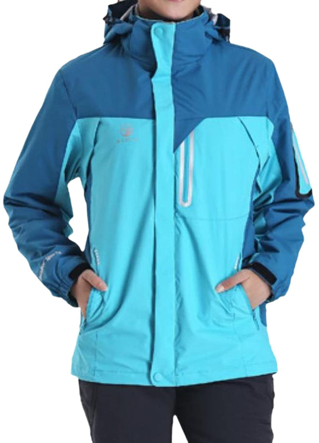 Honey GD Women's Simple Windproof Hooded Jacket Mountain Jacket