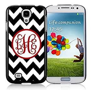 Coolest Samsung Galaxy S4 Case Personalized Black Chevron Red Monogra Durable Soft TPU Silicone Black Phone Cover Accessories by icecream design