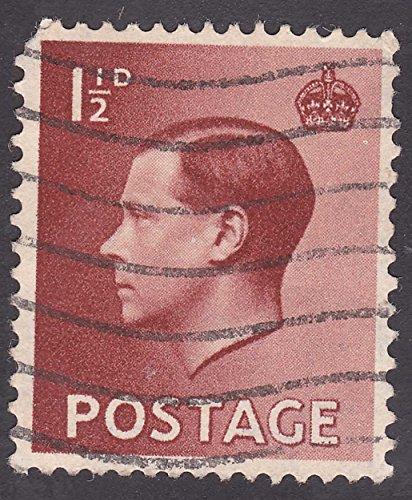 King Edward VIII 1 1/2 D Postage Stamp