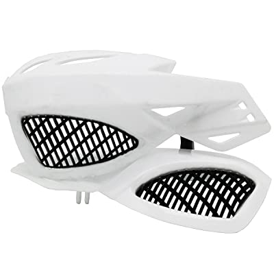 "Lozom 7/8"" Motorcycle Handguards Handlebar Hand Guards Brush Bar Protector For Motocross Supermoto Racing Dirt Bike ATV (White): Automotive"