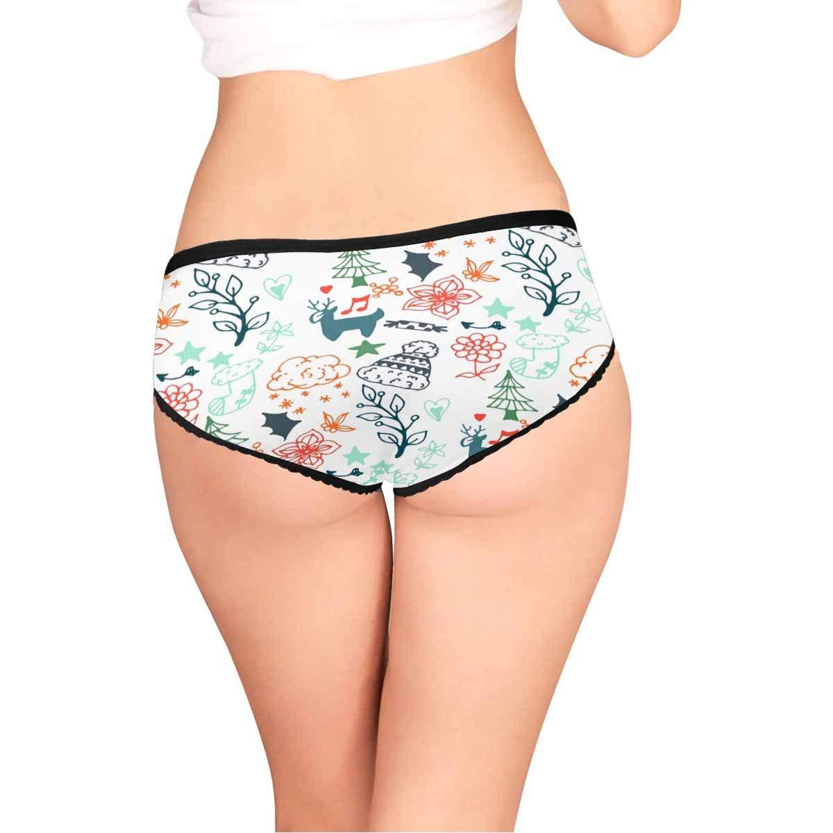 XS-XXL INTERESTPRINT Womens Stretch Classic Briefs Panties