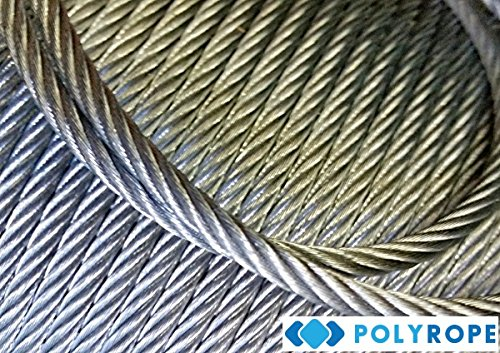 10 meters stainless steel wire rope cable 1.5mm cordage Strand: 7x7 A4 marine grade Poly rope