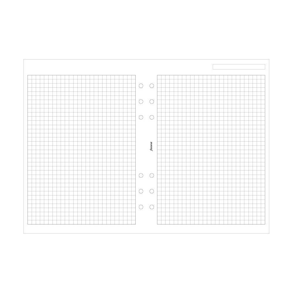 Filofax A5 Quadrille 1/5 Squares (B342905)