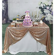 "Soardream 60""x102"" sequin tablecloth wedding decor Large Sparkly Tablecloth for wedding"