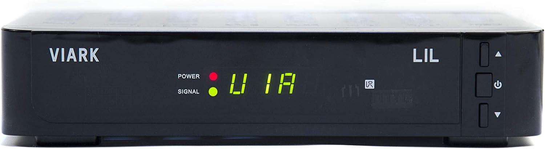 Viark Lil Receptor Satélite dvb-s2 Full HD 1080p hevc h265 LAN y Antena WiFi