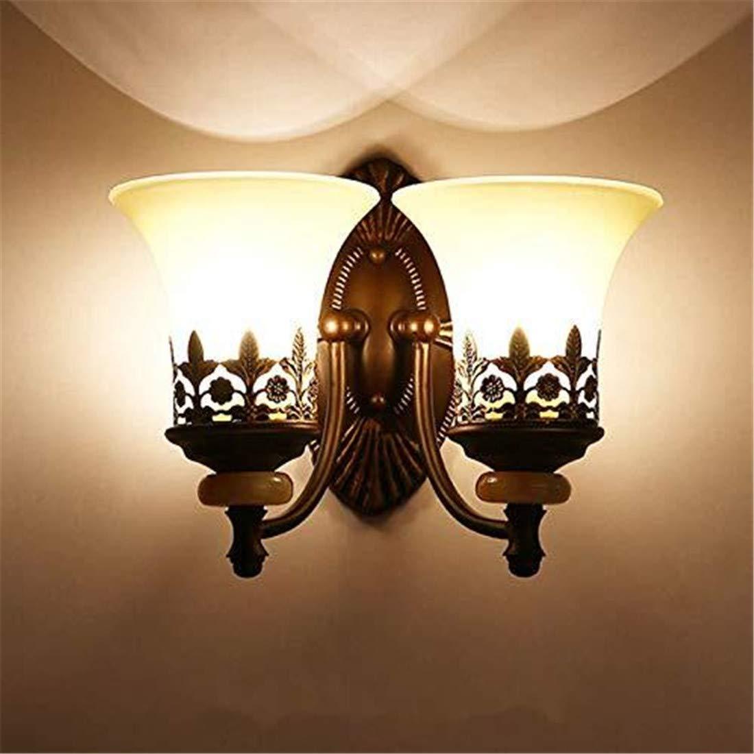 Kunst-Lampen Retrohängelampe Deckenleuchte Perfekt Für Bar Restaurant Café Wohnzimmer Schlafzimmer Flur Balkon, Doppelter Kopf, Warmes Licht [Energieklasse A +++]
