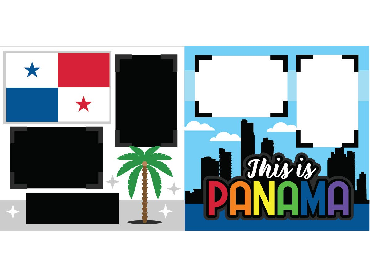 This is Panama Assembled Scrapbook Page