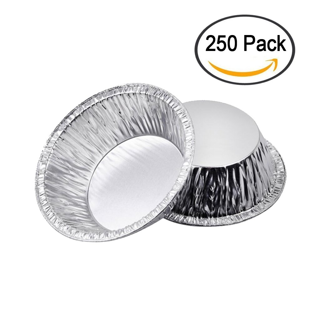 Ocircle Egg Tart Aluminum Foil Disposable Cupcake Cake Cookie Mold for Baking Supplies(250Pack)