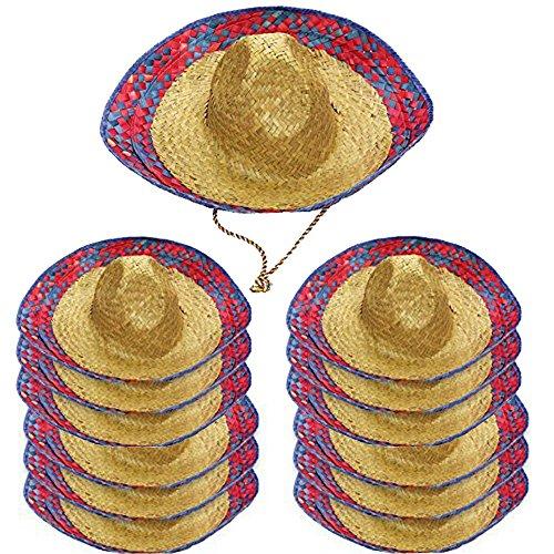Tigerdoe Sombrero Party Hats - 12 Pack - Mexican Hats - Cinco De Mayo Hats - Sombrero Hats