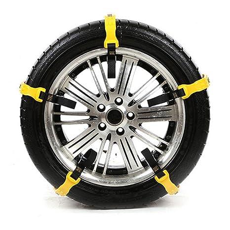 Autool Cadenas antideslizantes del neumático de la nieve del coche 10pcs / set encadenaron cadenas espesadas