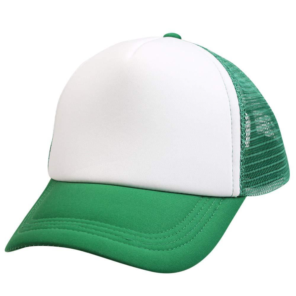 VEFSU Men Women Unisex Baseball Cap Boys Girls Color Block Snapback Casual Hip Hop Flat Hat