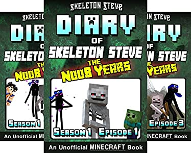 Amazon.com: Diary of Minecraft Skeleton Steve the Noob Years ...