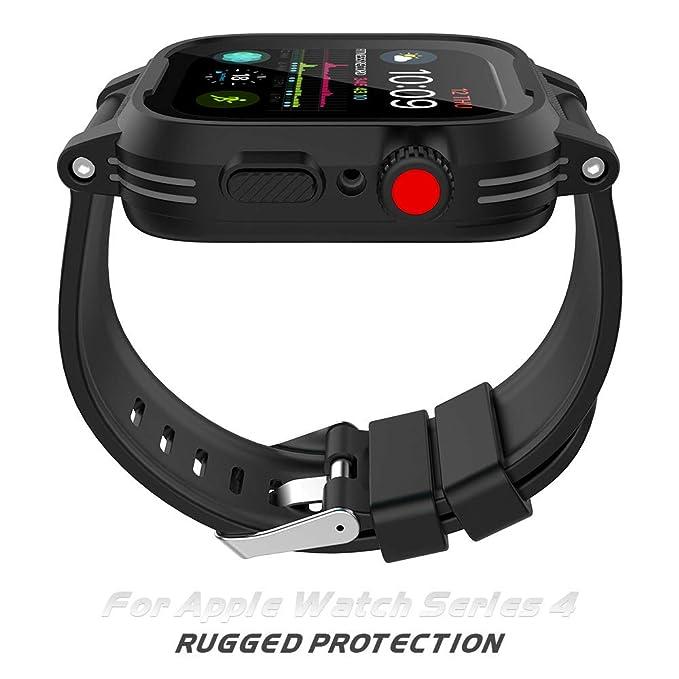 Amazon.com: Funda impermeable para Apple Watch Serie 4 ...