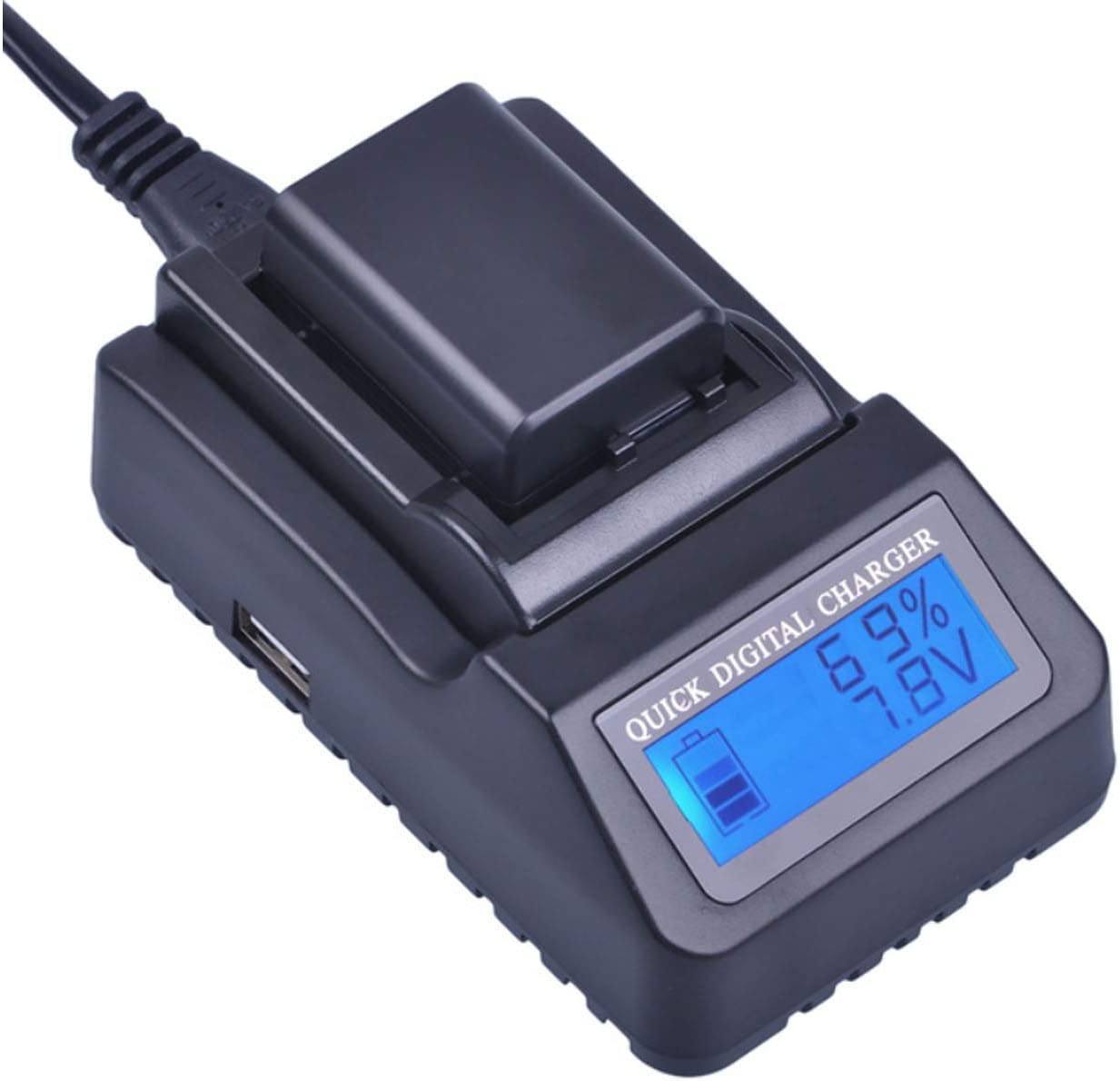 GZ-MG175 Camcorder GZ-MG155 LCD Dual Quick Battery Charger for JVC Everio GZ-MG150