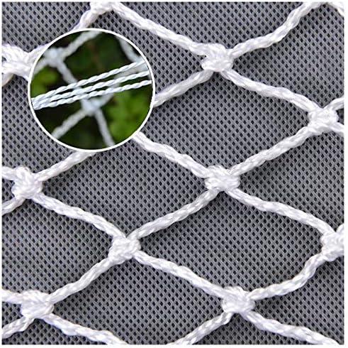 ロープネット、植物成長ネット落下防止ネット装飾ネット保護ネット保護ネット登山ネット鳥ネットネット=交換ボールネット練習ネットバルコニーネット階段ネットセーフティネットアンチフォールネット子供用セーフティネット保護ネットアウトドアネットアンチキャットテニスコートフェンスネットグッズホワイト、1*1メートル(3.3*3.3フィート)-大型、カスタムサポート  Customization