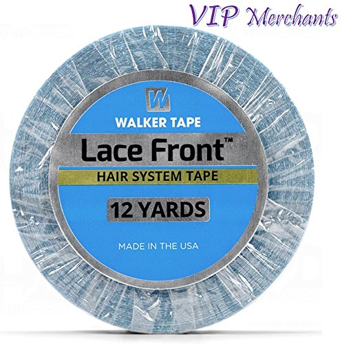 Lace Front Support Tape For Toupee and Wig 1/2' x 12 Yards - AUTHENTIC WALKER TAPE