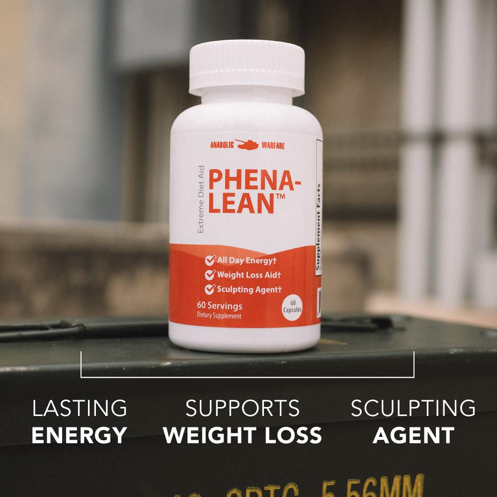 Phena-Lean Thermogenic Fat Burner Supplement by Anabolic Warfare - Aids Weight Loss Efforts, Boosts Energy and Focus (60 Capsules) by Anabolic Warfare (Image #2)