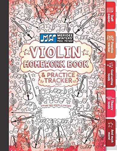 Download Violin Homework Book and Practice Tracker (Red) pdf epub