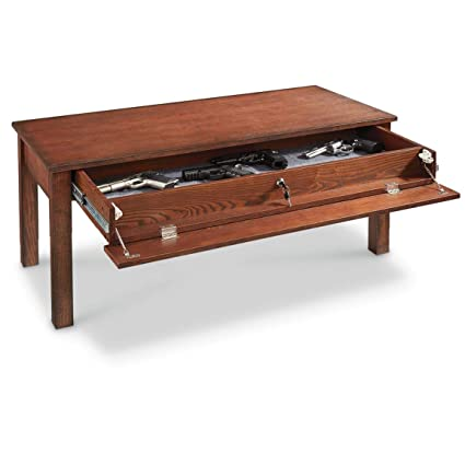 Amazon Com Castlecreek Gun Concealment Coffee Table Kitchen Dining