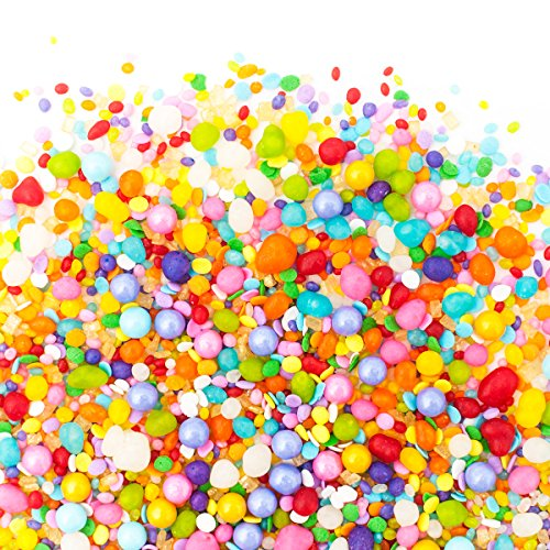 Candy Sprinkles | Unicorn Candyfetti | 8oz Jar | Rainbow Fruity | MADE IN THE USA! | Edible Confetti by Sweets Indeed