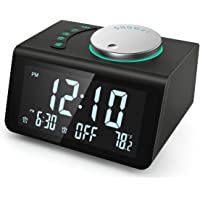 【2021 Newest】 ANJANK Small Digital Alarm Clock Radio - FM Radio,Dual USB Charging Ports,Dual Alarms with 7 Alarm Sounds…