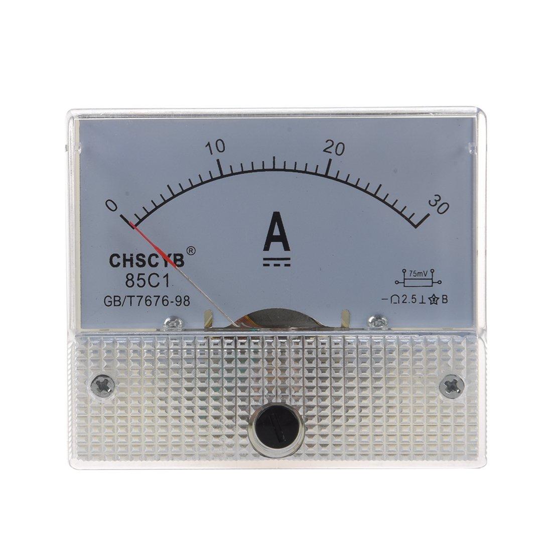 85C1 Medidor de panel de corriente analogico DC 30A AMP Amperimetro SODIAL R
