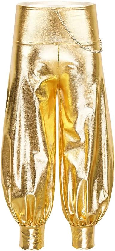 dPois Pantalones de Baile Hip Hop para Niña Pantalones Harem ...
