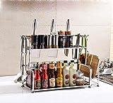Kitchen Shelf / Stainless Steel Storage Shelf Shelf / Dispenser / Wall Floorware Kitchenware ( Size : 582240CM )