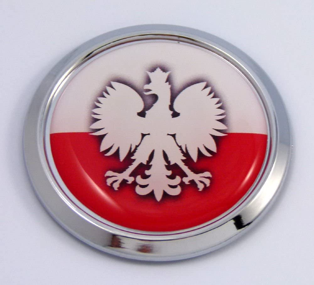 POLAND CREST COAT OF ARMS CAR GRILLE BADGE