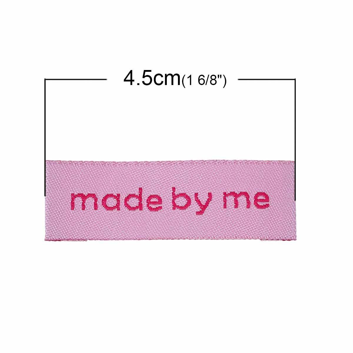 divers motifs au choix designed by me ? rosa Tissage fabriqu/ée x 10 /étiquettes