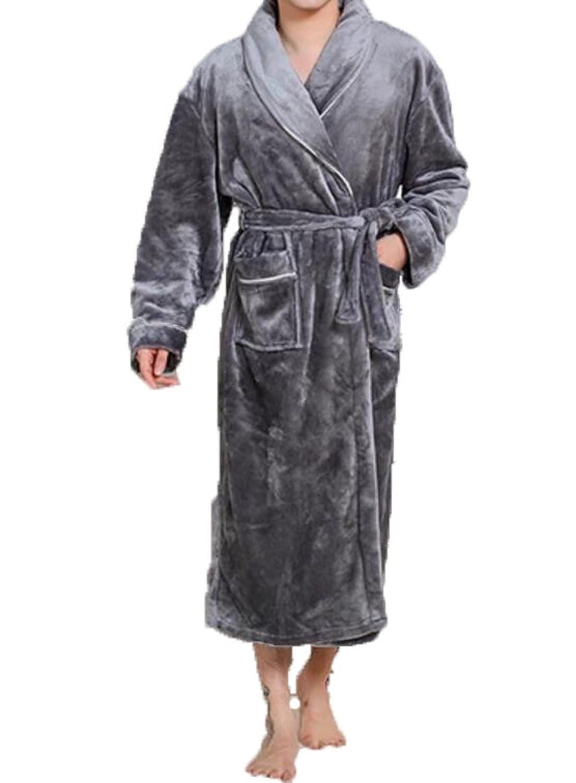 Épaisses Blaireaux Chauds Robes Pour Hommes Manches Longues Automne Et Hiver à La Maison Des Peignoirs De Bain