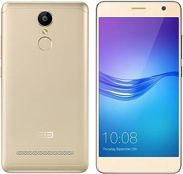 ELEPHONE A8-5.0 Smartphone 3G (Android 7.0 MTK6580 1.3GHz Quad Core Lector de Huellas Dactilares), Oro: Amazon.es: Electrónica