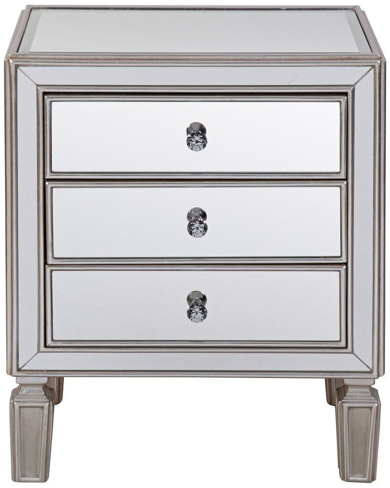 Amazon.com: Aneta Hand Painted Silver Leaf Accent Table: Kitchen U0026 Dining