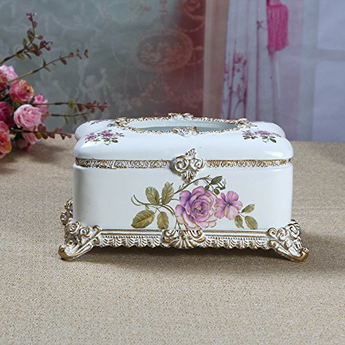 SSBY Home Furnishing High-Grade Living Room Decoration European Style Carved Gilt Resin Box Fashion Box