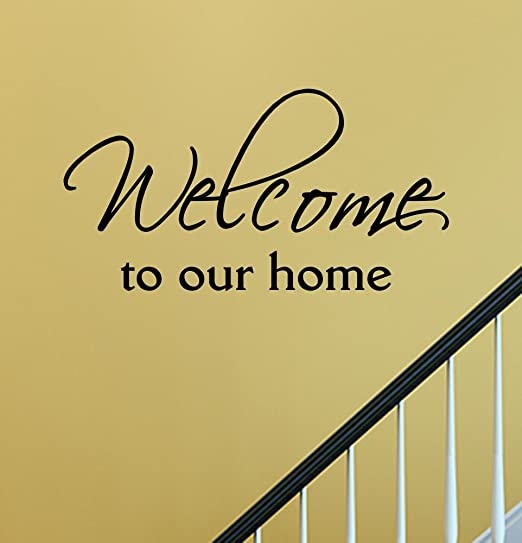 In our home we practice patience Vinyl Decal 22x36 Vinyl Decal Home Decor Door Wall Lettering Words Quotes