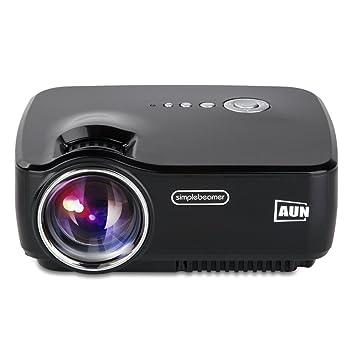 AUN 1200 lúmenes 800*480 Resolución LED Proyector MINI Proyector ...