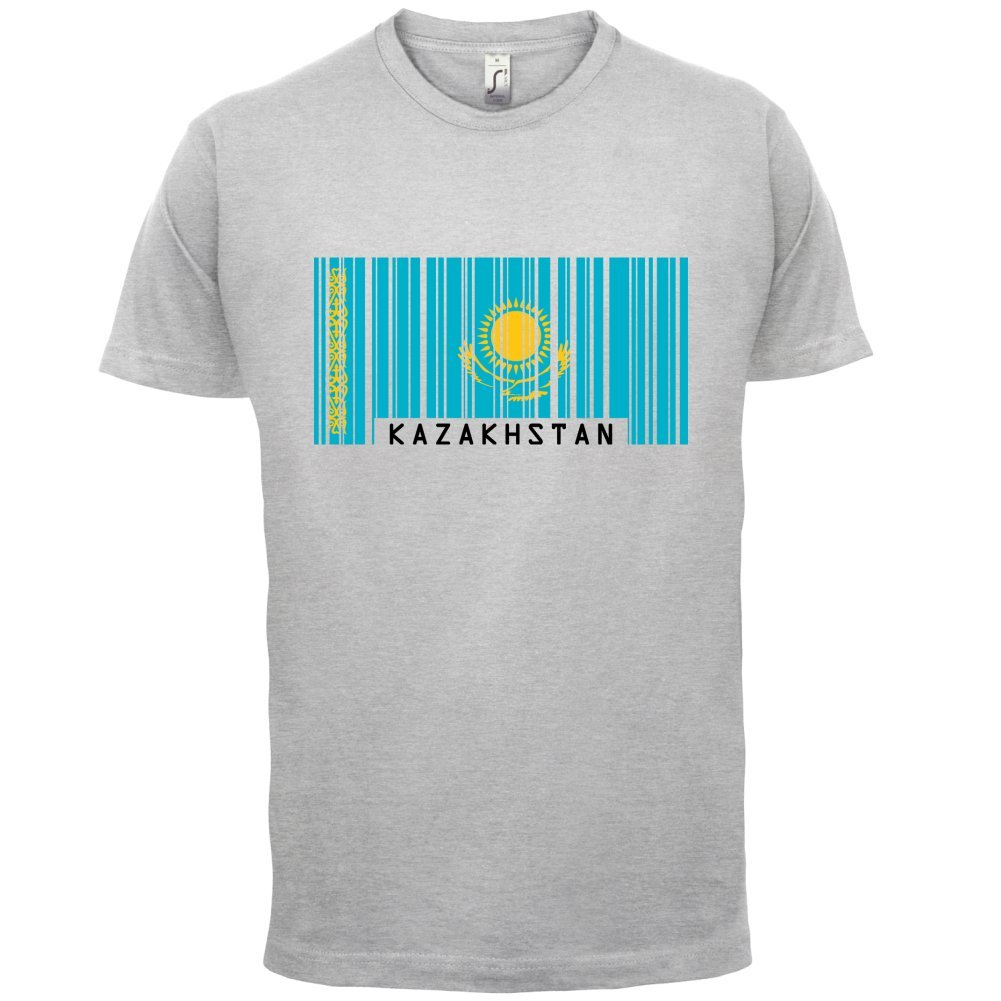 Kazakhstan / Kasachstan Barcode Flagge - Herren T-Shirt - 13 Farben:  Amazon.de: Bekleidung
