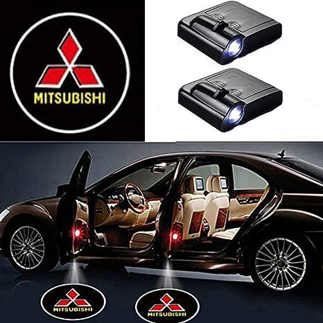 Image ofMIVISO Proyector LED para automóvil, Luz de sombra de 2 piezas para puerta de automóvil, Lámpara de logotipo universal con sensor magnético inalámbrico universal