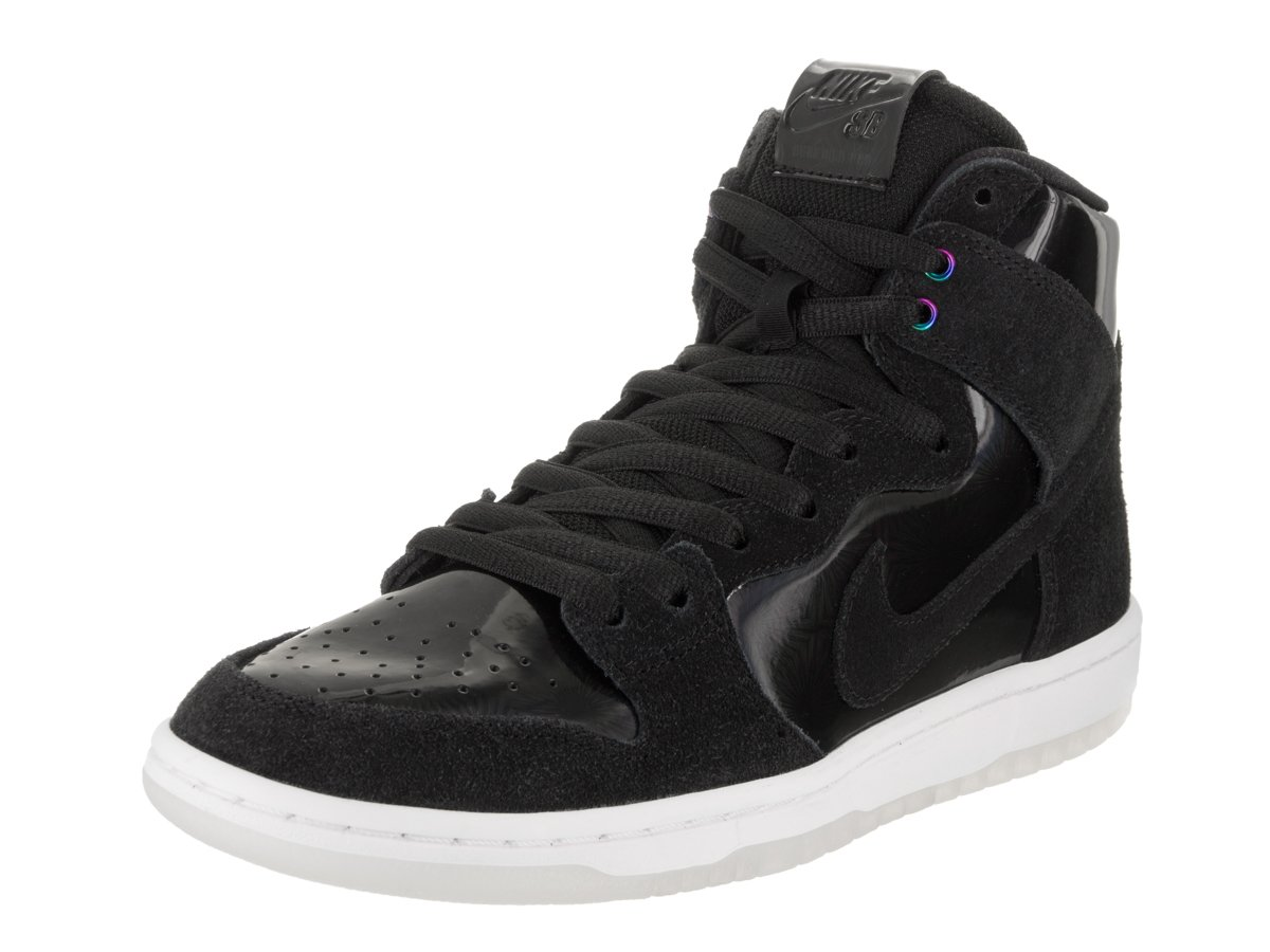 Nike Men's SB Zoom Dunk High Pro Black/Black White Clear Skate Shoe 6 Men US