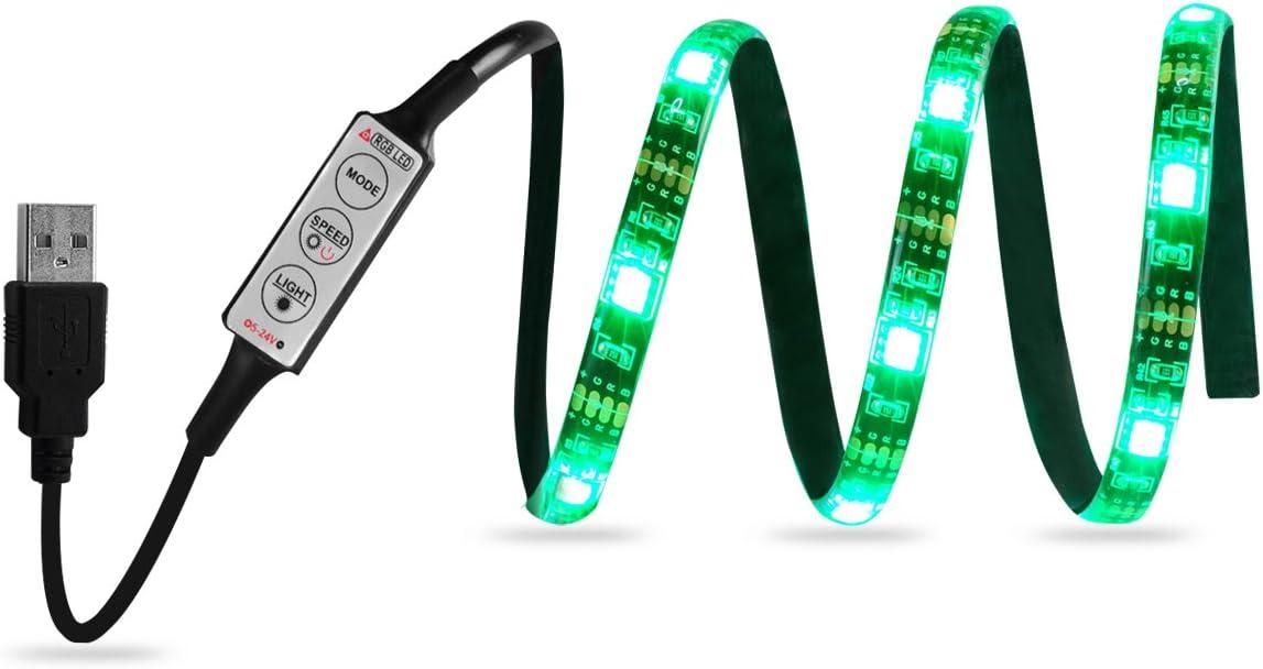 16.4ft 5M 5050 SMD 300 LED Flexible Strip Lights Black PCB IP65 Waterproof USCC