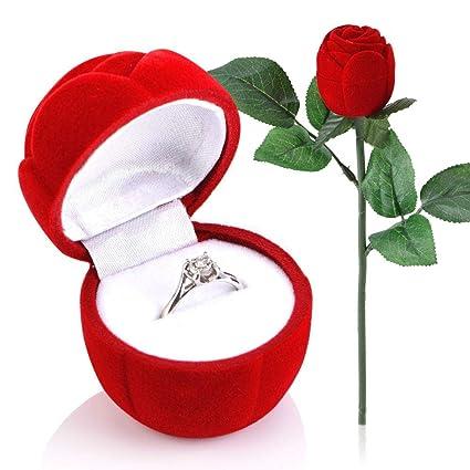 grande varietà più economico sconto speciale di Scatola Anello dei Monili della Rosa Rossa Come Regali San ...