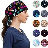 Gorras de trabajo de moda con botones, banda ajustable para el sudor y corbata para mujeres y hombres