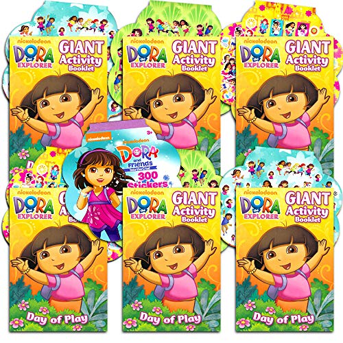 Dora the Explorer Party Favors Pack -- 6 Coloring Books and 8 Sticker Sheets (Dora the Explorer Party Supplies) ()