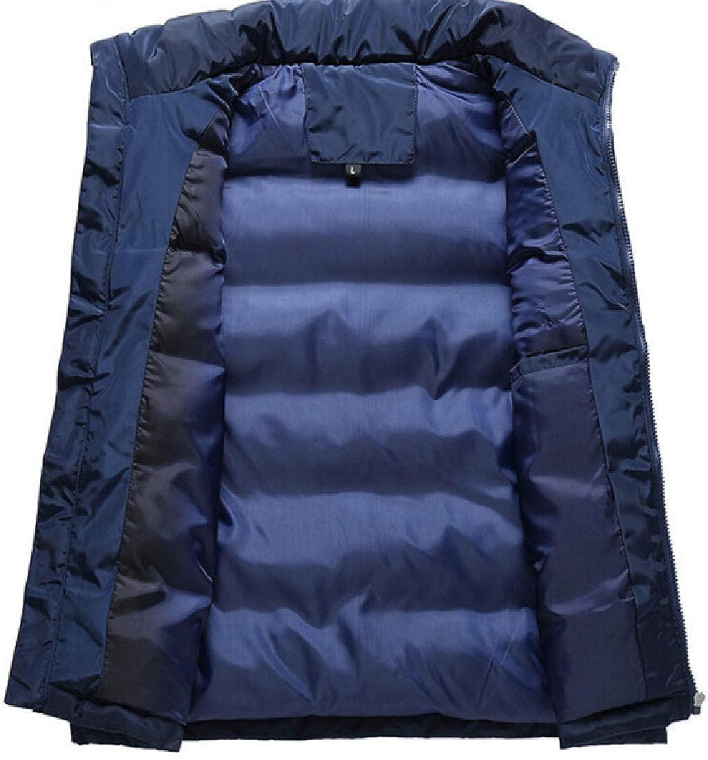 yibiyuan Mens Fall Sports Packable Vest Lightweight Winter Linen Down Waistcoat