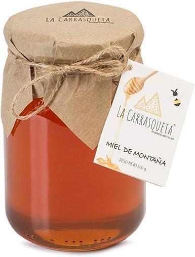 Miel de Montaña artesanal, 500g - 100% Natural - Miel de Alta Calidad - Producida por pequeños Apicultores Locales - Origen España - Montaña Mediterránea: Amazon.es: Alimentación y bebidas