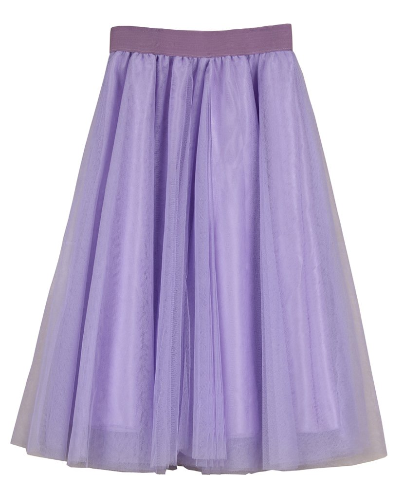Women's A Line Knee Length Tutu Tulle Prom Party Dance Skirt (L-XL, Lavender)