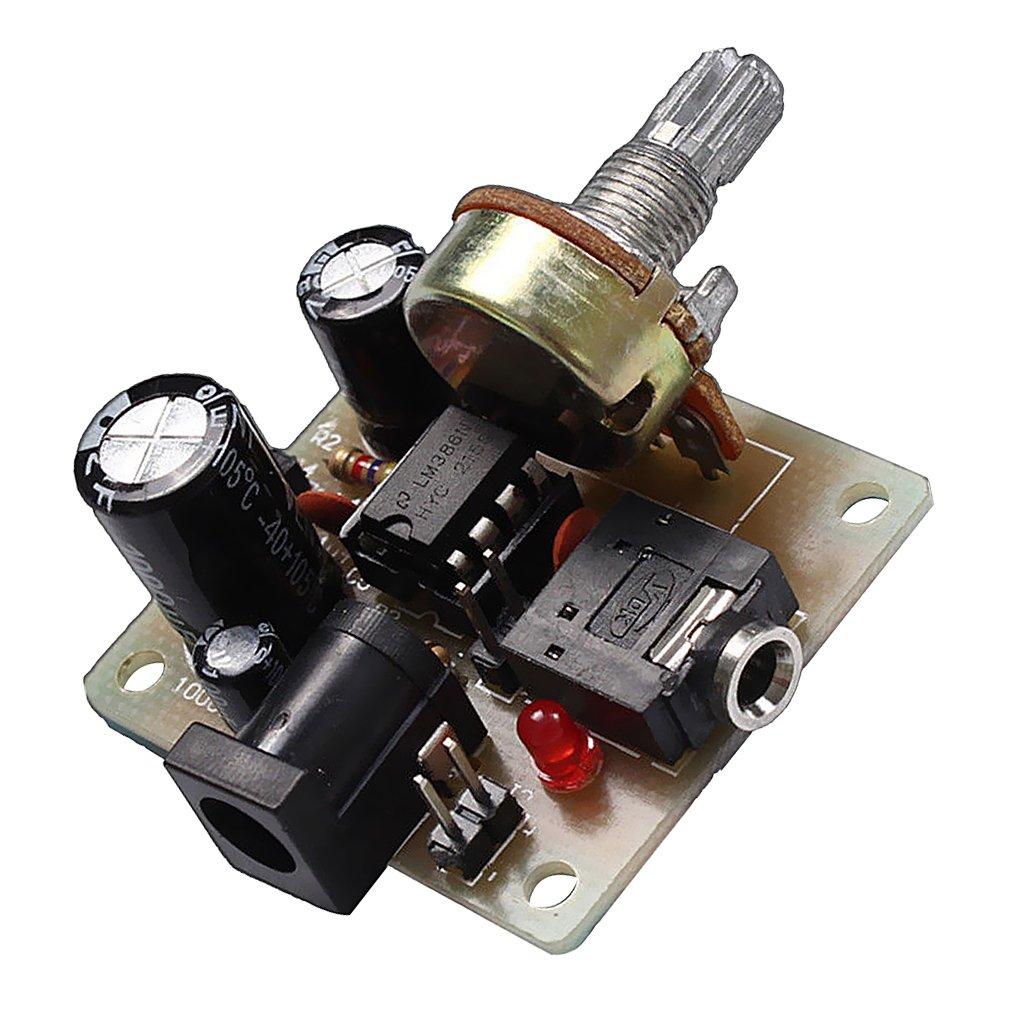 Almencla Mini Amplificador De Potencia De Tablero De Amplificador LM386 para Arduino DC 3V-12V