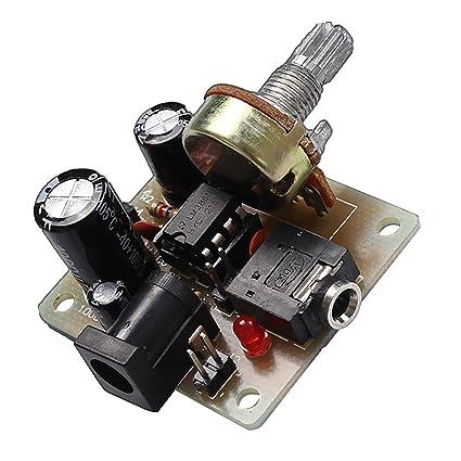 MagiDeal ICSK025A 3v-12v LM386 Mini Tablero Board de Amplificador Accesorio de Bricolaje