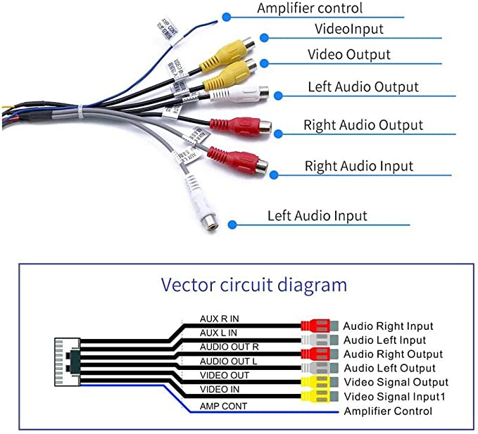 Demiawaking Cinch Kabel Stereo Stecker 20 Pin Auf 6 X Elektronik